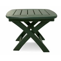 POLYWOOD® Nautical Side Table Plastic in Green, Size 15.25 H x 21.0 W x 18.0 D in | Wayfair NSTGR