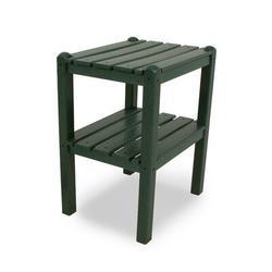 POLYWOOD® Two Shelf Plastic Side Table Plastic in Green, Size 22.75 H x 18.5 W in   Wayfair TWSTGR
