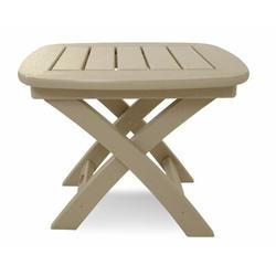 POLYWOOD® Nautical Side Table Plastic in Brown, Size 15.25 H x 21.0 W x 18.0 D in | Wayfair NSTSA