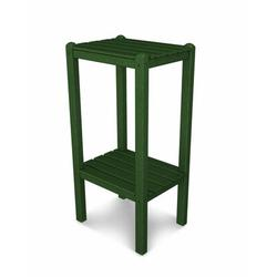 POLYWOOD® Two Shelf Bar Side Table Plastic/Metal in Green, Size 36.0 H x 14.0 W x 18.5 D in   Wayfair BSTGR