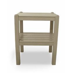 POLYWOOD® Two Shelf Plastic Side Table Plastic in Brown, Size 22.75 H x 18.5 W in | Wayfair TWSTSA
