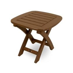 POLYWOOD® Nautical Side Table Plastic in Brown, Size 15.25 H x 21.0 W x 18.0 D in | Wayfair NSTTE