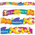 """TREND enterprises, Inc. Today is a great day to learn Quot. Expressions® Banner in Blue/Yellow/Pink, Size 0.06"""" L x 12.44"""" W x 22.5"""" H 