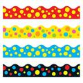 "TREND enterprises, Inc. Lotsa Spots Terrific Trimmers®Variety Pack in Red/Yellow/Blue, Size 0.5"" L x 3"" W x 42"" H | Wayfair T-92912"