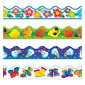 "TREND enterprises, Inc. Four Seasons Terrific Trimmers® Variety Pack Border in Blue/Green/Pink, Size 0.5"" L x 3"" W x 42"" H | Wayfair T-92914"