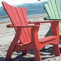 """Uwharrie Chair Wave Wood Adirondack Chair in Red/Gold/Brown, Size 44""""H X 33""""W X 35""""D 
