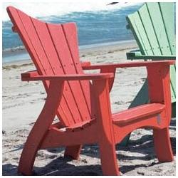"""Uwharrie Chair Wave Wood Adirondack Chair in Red/Gold/Brown, Size 44""""H X 33""""W X 35""""D   Wayfair 7011"""