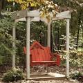 "Uwharrie Chair Veranda Porch Swing, Wood in Brown/Gold/Gray, Size 38""H X 50""W X 38""D | Wayfair V052"