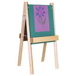 Wood Designs Folding Board EaselChalkboard/Wood in Brown, Size 48.0 H x 26.0 W x 22.0 D in | Wayfair 18975