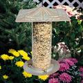 Whitehall Products Dragonfly Tube Bird Feeder Metal in Green, Size 14.5 H x 9.5 W x 9.5 D in | Wayfair 30507