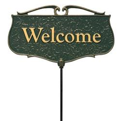Whitehall Products Flora & Fauna Welcome Poem Garden Sign Metal, Size 12.0 W in   Wayfair 10044