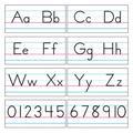 TREND enterprises, Inc. Basic Alphabet Zaner-Bloser Manuscript Bulletin Board Set, Size 13.0 H x 18.0 W x 0.2 D in | Wayfair T-1858