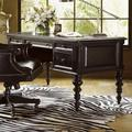 """Tommy Bahama Desk - Tommy Bahama Home Kingstown Port Royal Writing Desk, Wood/Solid Wood in Black, Size 30""""H X 62""""W X 30""""D"""