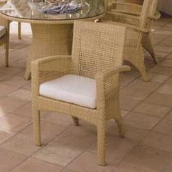Woodard Trinidad Wicker Barrel Dining Arm Chair w/ CushionWicker/Rattan, Size 31.5 H x 26.0 W x 29.0 D in   Wayfair 6U0010