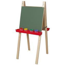 Wood Designs Folding Board EaselChalkboard/Wood in Brown, Size 48.0 H x 20.0 W x 22.0 D in   Wayfair 18900