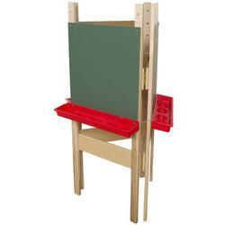 Wood Designs Adjustable Board EaselWood/Paper in Brown, Size 48.0 H x 20.0 W x 24.0 D in | Wayfair 18600