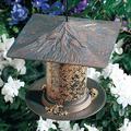 Whitehall Products Pinecone Tube Bird Feeder Metal, Size 16.0 H x 9.5 W x 9.5 D in | Wayfair 30421