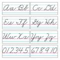 TREND enterprises, Inc. Basic Alphabet Zaner-Bloser Cursive Classroom Border, Size 13.0 H x 18.0 W x 0.2 D in | Wayfair T-1859