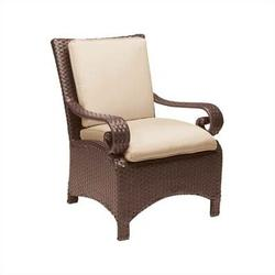 Woodard Carlton Wicker Dining Arm Chair w/ CushionWicker/Rattan, Size 37.0 H x 29.5 W x 30.0 D in   Wayfair 630021