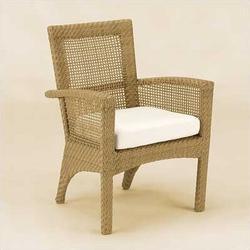 Woodard Trinidad Wicker Dining Arm Chair w/ CushionWicker/Rattan, Size 34.9 H x 26.0 W x 24.3 D in   Wayfair 6U0001