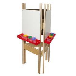 Wood Designs Adjustable Board EaselWood/Paper in Brown, Size 48.0 H x 20.0 W x 24.0 D in | Wayfair 18625