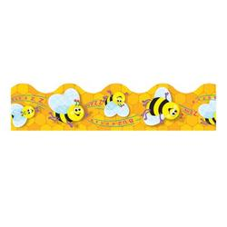 """TREND enterprises, Inc. Trimmer Busy Bees Classroom Border in Yellow, Size 0.13"""" L x 2.38"""" W x 41"""" H 