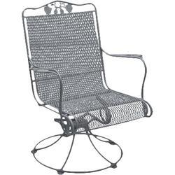 Woodard Briarwood High Back Lounge RockingChairMetal in White, Size 36.0 H x 27.4 W x 26.6 D in   Wayfair 400072-20