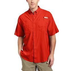 Columbia Men's Tamiami II Short Sleeve Fishing Shirt (Autumn Orange, X-Large)