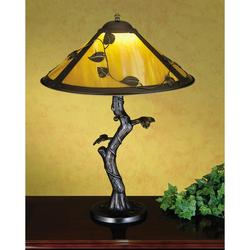 Meyda Tiffany 26296 Single Light Up Lighting Table Lamp from the Apple Tree Collection Bronze