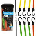 SMARTSTRAPS - 215 SmartStraps Bungee Cords (10pc Value Pack) – Secure Luggage, Coolers and Other Light Loads for Transport – Flat Strap Bungee Cords Distribute Load to Reduce Slipping