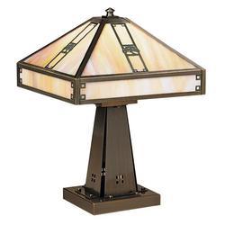 Arroyo Craftsman Pasadena 16 Inch Table Lamp - PTL-11E-GW-RB