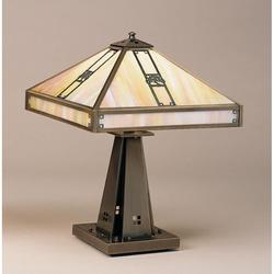 Arroyo Craftsman Pasadena 21 Inch Table Lamp - PTL-16E-F-MB