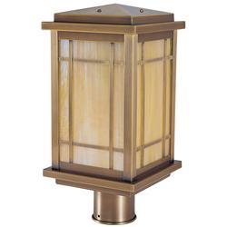 Arroyo Craftsman Avenue 13 Inch Tall 1 Light Outdoor Post Lamp - AVP-8-GW-BK