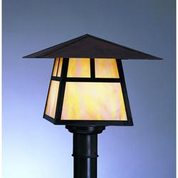 Arroyo Craftsman Carmel 9 Inch Tall 1 Light Outdoor Post Lamp - CP-12B-RM-BK