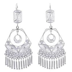 'Spanish Lace' - Handcrafted Bridal Sterling Silver Filigree Earrings