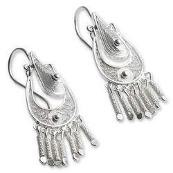 'Filigree Grace' - Hand Made Sterling Silver Chandelier Earring