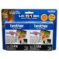 Brother Lc LC51BK2PKS Lc 51BK Ink Cartridge Ink