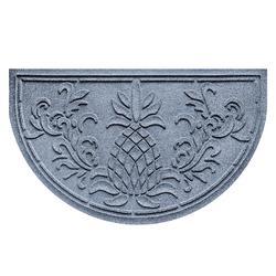 Water & Dirt Shield Pineapple Half-round Door Mat - Bluestone - Frontgate