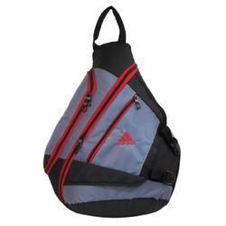 adidas Yates Sling 5132061 Backpack,Thunder Grey/University Red,One Size