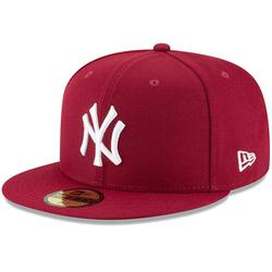 """""""Men's New Era Crimson York Yankees Fashion Color Basic 59FIFTY Fitted Hat"""""""