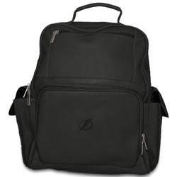 NHL Tampa Bay Lightning Pangea Black Leather Large Backpack