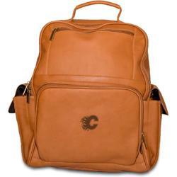NHL Calgary Flames Pangea Tan Leather Large Backpack