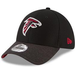 Men's New Era Black Atlanta Falcons Popped Shadow Team 39THIRTY Flex Hat