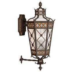 Fine Art Handcrafted Lighting Chateau Variegated 4 - Bulb Frosted Glass Rich Umber Patina/Solid Brass/Gold Outdoor Wall Lantern Metal   Wayfair
