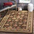 """Safavieh Lyndhurst Collection LNH556 Traditional Floral Trellis Non-Shedding Living Room Bedroom Dining Home Office Area Rug, 5'3"""" x 7'6"""", Brown / Brown"""