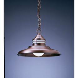 "Arroyo Craftsman Newport 1-Light Outdoor Pendant, Shade Type: Clear Seedy, Metal in Bronze, Size Small (less than 12"") | Wayfair NH-17CS-BZ"