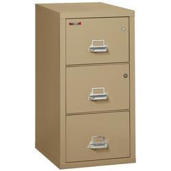 FireKing Legal Safe-In-A-File Fireproof 3-Drawer Vertical File Cabinet Metal/Steel in Brown, Size 40.25 H x 20.81 W x 31.56 D in | Wayfair