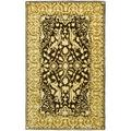 Safavieh Silk Road Hand-Tufted Wool Gold Area Rug Wool in Brown/Yellow, Size 48.0 H x 30.0 W x 0.5 D in | Wayfair SKR213F-24