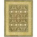 Safavieh Silk Road Hand-Tufted Wool Gold Area Rug Wool in Brown/Yellow, Size 114.0 H x 90.0 W x 0.5 D in | Wayfair SKR213F-8