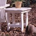 Uwharrie Chair Companion Wood Side Table Wood in Green/White, Size 30.0 H x 30.0 W x 23.5 D in | Wayfair 5040-019-Wash